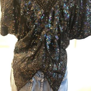 Vintage Tops - 2 for $25 🎀 Vintage Butterfly Sequin Top
